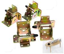 4 x Iron Locking Folding Table Chair Leg Brackets Hinges Home Furniture DIY Tool