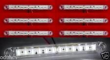 6x 24V Bianco 12 LED lato Anteriore Luci Di Posizione per Camion Rimorchio