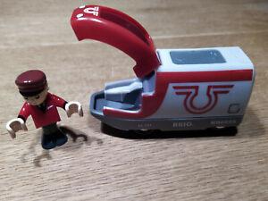 BRIO 33504 - Triebwagen Batterielok, motorisiert, mit 1 Figur, gebraucht