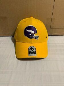 Minnesota Vikings Legacy NFL '47 Brand Gold MVP Adjustable Hat Brand New
