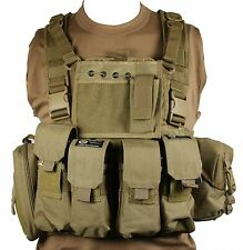 Tan Lightweight Rifleman MOLLE Webbing Rig Airsoft Paintball