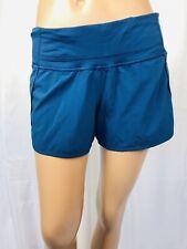 LULULEMON size 6 teal color running shorts