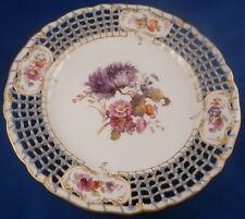 KPM Berlin Porcelain Breslauer Stadtschloss Reticulated Plate Porzellan Teller 3
