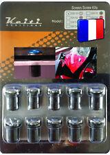 KIT BULLE 10 BOULONS CHROME PV RF R RM RMX RV SMX SV TU