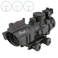 Cvlife 4*32 Tactical Rifle Scope Tri-illuminated Rapid Range + Fiber Optic Sight