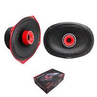 "2x American Bass 6x9"" Red Coaxial Hybrid Midrange Full Range 560 W 4 Ohm Speaker"