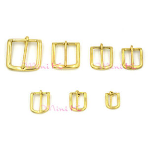 Belt Buckle Antique Vintage Brass Bronze Gold Leathercraft 7 Size DIY Strap Lot