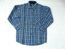 Boys Blue Check Button down shirt by IMPAQ size L (6) BN