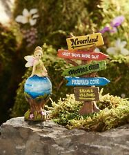 Fairy Garden Mini - Neverland Direction Sign and Tinkerbell