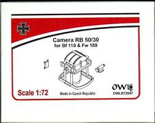 Owl Decals 1/72 RB 50/30 CAMERA for the Bf-110 & Fw-189 Resin Set