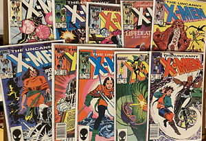 UNCANNY X-MEN ~ Lot Of 10 Issues ~ # 179-189 (missing 184) 🔥 🔑 Free Shipping!