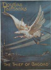 """""""LE VOLEUR DE BAGDAD (THE THIEF OF BAGDAD)"""" Affiche US entoil. Douglas FAIRBANKS"""