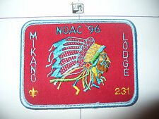 OA Mikano Lodge 231,X5,1996 NOAC Indian Chief Hat Patch,Tough,8,636,Milwaukee,WI