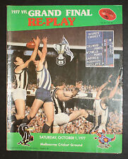 1977 Grand Final Replay football Record Collingwood vs North Melbourne unmarked