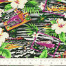 Cotton Fabric FQ Hawaii Island Sea Beach Hibiscus Floral Coconut Car & Boat VS20
