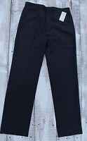MICHAEL KORS MK Men's 32 x 32 NEW Cotton Black Striped Slim Fit Pants Trousers