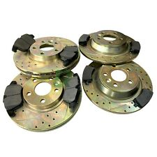 RANGE ROVER EVOQUE 2.2 TD4 NEW FRONT & REAR PERFORMANCE BRAKE DISCS & PADS KIT