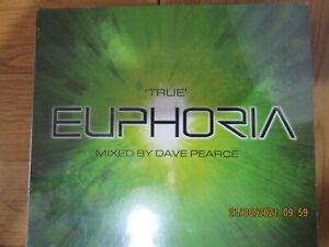 TRUE EUPHORIA MIXED BY DAVE PEARCE - 2 CD ALBUM SET BRAND NEW