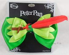 NEW Disney Peter Pan Sword Bow Tie Hair Clip Pin W/ Feather Costume Dress Up