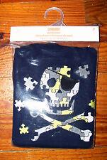 New! Boys GYMBOREE 2pc Blue Gray Green Skull & Bones Puzzle Pajamas Size 6