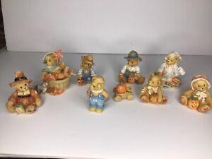 CHERISHED TEDDIES - HALLOWEEN - THANKSGIVING - FALL - Lot of 8