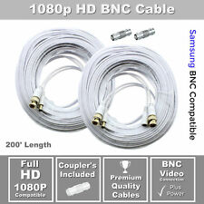 Lot of 2 200ft Samsung Wisenet Compatible Hd Cable f/ 5Mp Sdh-C85105, Sdh-C84080
