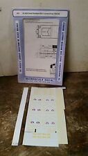 CUT Sheet Microscale Decals HO Scale 87-808 Great Northern RS-1 Loco 1944-60