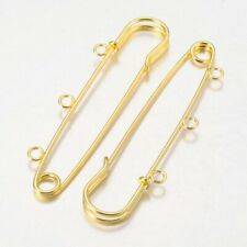 100pcs Iron Kilt Pins Brooch Finding for Fastening Jewelry Sewing Clothes Golden