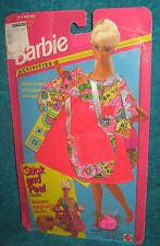 BARBIE FASHION-STICK & PEEL-DRESS & BAG-MOC-1994