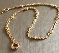 18ct Yellow Gold Diamond Bracelet 0.40ct Solitaire Chain Station