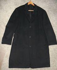 CHAPS BLACK WOOL BLEND COAT ~  MEN'S 48R