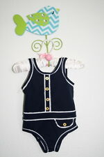 NWT JUICY COUTURE BABY Retro Nautical Swimsuit Girl Size 6-12 Months