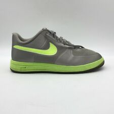Nike Mens Lunar Force 1 Fuse Athletic Shoes Gray Green Low Top 555027-002 12