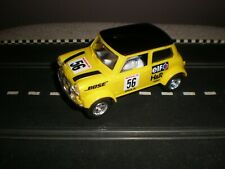 """Scalextric Mini Cooper """"Bose"""" (Yellow/Black)  V/G Condition  Unboxed Used C2104W"""