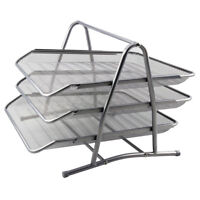 Metal Filing Letter Trays Stacking Office Desk Tidy Paper Document Organiser A4