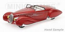 Minichamps 107116130 - Delahaye Type 165 cabriolet 1939 rouge   1/18