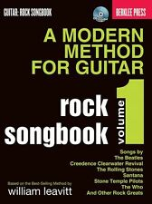 A Modern Method For Guitar Rock Songbook Learn to Play TAB Music Book 1 & CD