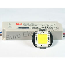 60W White High Power LED Light Lamp Panel Mean Well  AC/DC LED Driver LPC60-1750