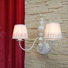 LAMPADA DA PARETE APPLIQUE 2L. FIAMMINGO CLASSICO COUNTRY SHABBY CHIC PARALUMI