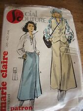 """PATRON VINTAGE """"MARIE CLAIRE """" JUPE ET GILET    TAILLE 36/40/44"""