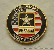 "US ARMY "" ARMY STRONG "" Challenge Coin DOD Military Rangers Green Beret Infantry"