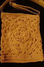 New Crossbody Purse Handbag Crochet Knit Hippie Boho