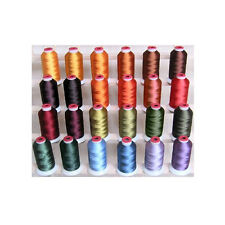 POLYESTER MACHINE EMBROIDERY THREAD SET 24 FALL COLORS THREADELIGHT 1100YDS 40WT