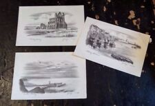 Three Vintage Postcards Judges of Hastings Pencil Etches of Whitby