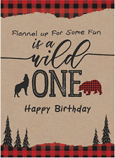 First Birthday Backdrop Red Buffalo Plaid party decors Photography Background