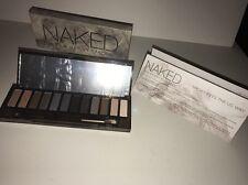 "URBAN DECAY ""Smoky Naked"" 12 Eyeshadow Mirrored Compact + Brush NEW Box Cosmetic"