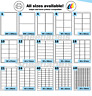 500 Sheet Box A4 Self Adhesive Printer Parcel Pallet Sticky Labels. 15 sizes