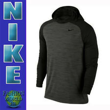 MEN'S SIZE XL NIKE DRI-FIT TOUCH LIGHTWEIGHT LONG SLEEVE HOODIE BLACK 696063 NWT