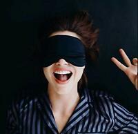 Masque de Sommeil et de Voyage 100% Pure Soie naturelle super légère (adultes)