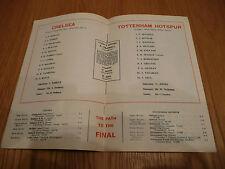 Chelsea  v Tottenham Hotspur Spurs 1967  FA Cup Final